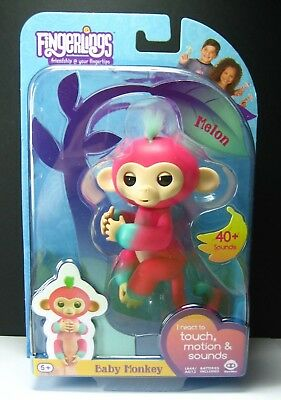 FINGERLINGS Baby Monkey MELON EXCLUSIVE 2Tone Interactive pet CUTE Responds HTF