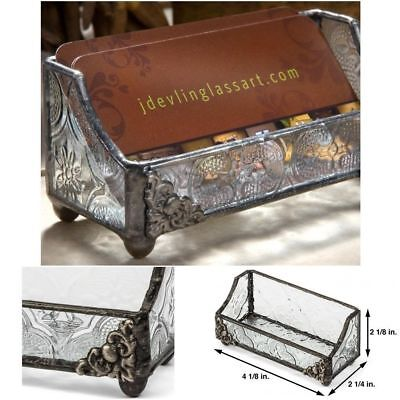 Business card holder vintage retro classic style glass metal desk business card holder vintage retro classic style glass metal desk decor display colourmoves