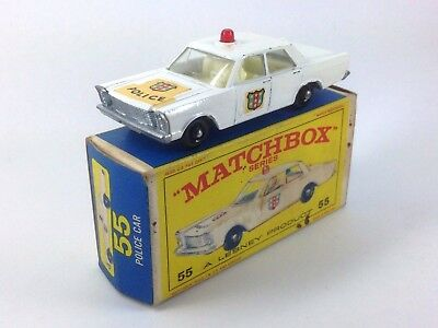 Matchbox Series Police Car 25 Ford Galaxie A Lesney Product Caja Original