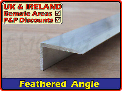Aluminium Feathered Angle Section ║ aprx 40 x 25 mm ║ (chamfered nosing,profile)