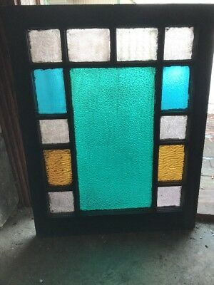 Sg 1865 Antique Aqua Queen And Stainglass Window 23.75 X 30 H