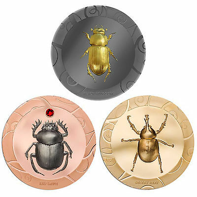 CIT 2017 Scarab Selection 3x 1oz Silver Coin Set