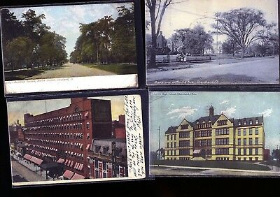 Lot of 4 Early 1900s Cleveland Ohio VIntage POSTCARDS