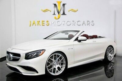 2017 Mercedes-Benz S-Class S63 AMG CABRIOLET DESIGNO ($200,720 MSRP!) 2017 MERCEDES S63 AMG CABRIOLET DESIGNO~$200K MSRP!~DESIGNO DIAMOND WHITE ON RED