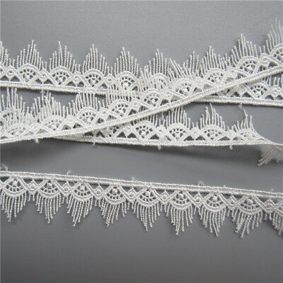 5 Meters White Embroidered Lace Edge Trim Ribbon Wedding Applique Sewing Craft