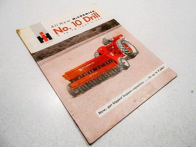 International Harvester: All New McCormick No. 10 Drill, 16 Page Brochure
