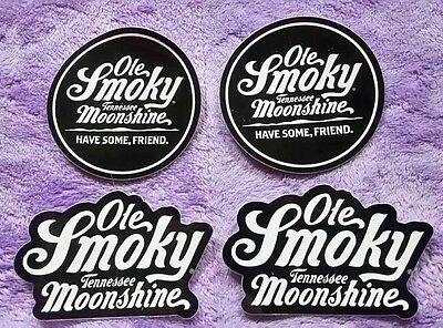 4 NEW  Ole Smoky Tennessee Moonshine decals stickers