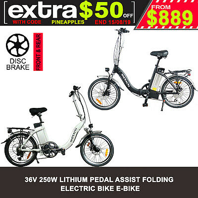 New 250W Fold Folding Electric Bike E-Bike Ebike E-Scooter E-Bicycle E-City Bike