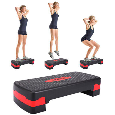 """27'' Fitness Aerobic Step Adjust 4"""" - 6""""Exercise Stepper w/Risers Home Gym New"""
