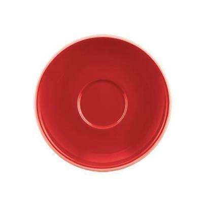 36x Coffee Cup Saucer, Red, 142mm, Tulip, Rockingham, Cafe / Restaurant
