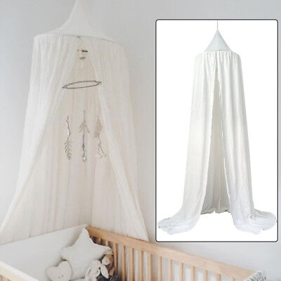 Baby Bed Mosquito Round Dome Bed Canopy Bedcover Mosquito Cotton Reading Curtain