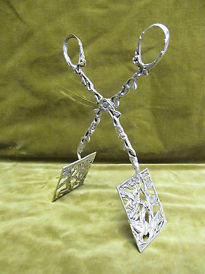 20th c sterling 925 silver pastry tongs rococo st ducks take flight 131gr