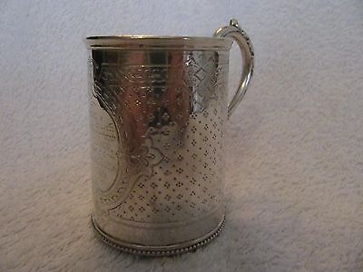 antique victorian english sterling (925) silver mug/tankard london 1869 104g