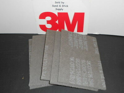 3M Scotchbrite 7448 Gray Hand Pads 6X9 Scouring-Finishing 5 Pads Ultra Fine