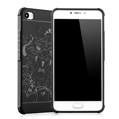 3D Relief Dragon Shockproof Airbag Cartoon Soft TPU Cover Case For MEIZU Series