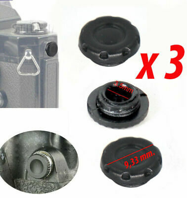 3 X PROTECTION CAP CAP PC SYNC SOCKET SYNCHRO x FLASH NIKON CANON Italy