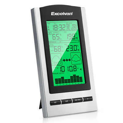 Digital LCD Wireless Weather Station Temperature Humidity Barometer & Sensor UK
