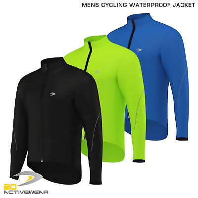 Activewear Mens Cycling Jacket High Visibility Waterproof Running Top Rain Coat