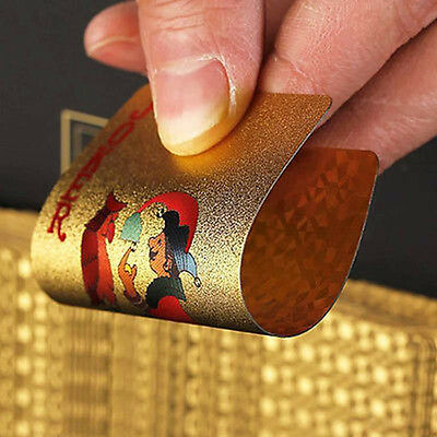24K Playing Cards Game Gift Sets Gold Foil Plated Poker Dollar USD Deck Toy Gift