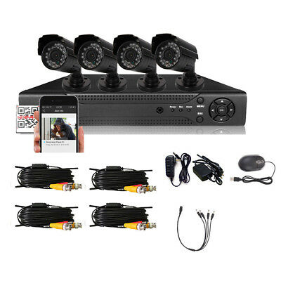 8-Channel H.264 DVR Outdoor IR Night Vision CCTV CMOS Camera Security System