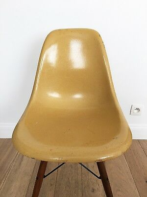 Eames Herman Miller Dark Ochre / Original / Side chair / Vintage