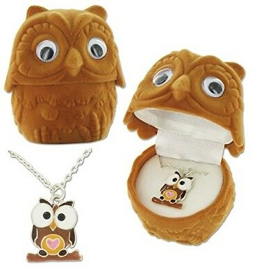 Circle of Friends Owl Pendant Necklace