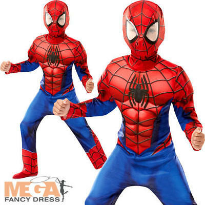Deluxe Ultimate Spider-Man Boys Fancy Dress Superhero Comic Book Childs Costume  sc 1 st  PicClick UK & DELUXE ULTIMATE SPIDER-MAN Boys Fancy Dress Superhero Comic Book ...
