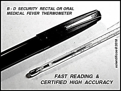 B - D Becton Dickinson U.S.A. SECURITY Oral/Rectal Fast & Accurate Fever Thermom