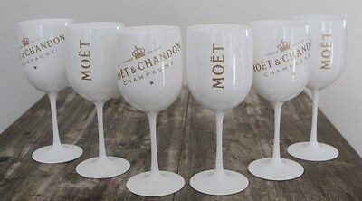 Moet Chandon Ice Imperial Champagne  Flutes X 6 Unboxed  Genuine 2017 Style