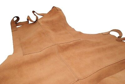 Proops Heavy Duty Suede Leather Work Apron with 4 pockets. J1121
