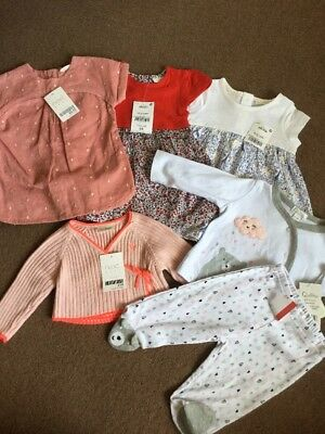 Bnwt Next, Quiltex Baby Girls Clothes Bundle Age 0-3 Months