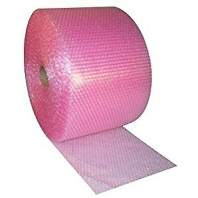 """Pink Anti-Static Bubble Rolls Wrap 3/16""""x100' Bubbles Perforated 12"""" Wrap"""