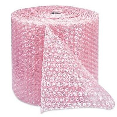 """Pink BUBBLE Anti Static Bubble Rolls Wrap 1/2""""x 50' Bubbles Perforated 12"""" Wrap"""