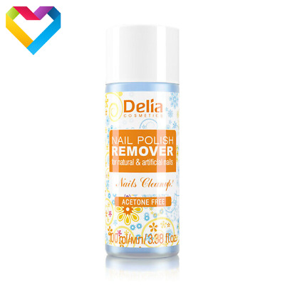 DELIA NAIL POLISH REMOVER FOR NATURAL AND ARTIFICIAL NAILS ACETONE FREE 100ml