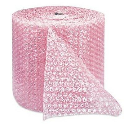 """Pink Anti Static Bubble Rolls Wrap 1/2""""x 100' Bubbles Perforated 12"""" Wrap"""