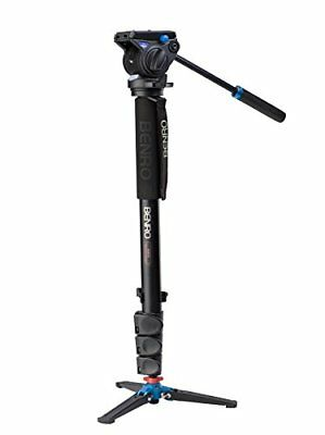 Benro A48FDS4 Series 4 Aluminum Monopod with 3-Leg Locking Base and S4 Vid Head