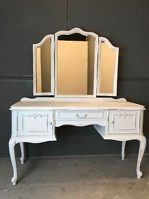 Vintage French Dressing Table / French Ladies Desk  (BR609)
