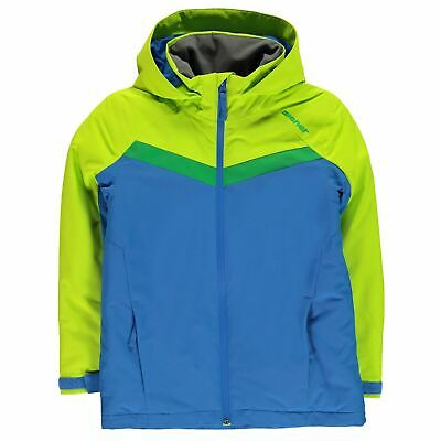 2f6b663165 Ziener Kids Boys Alexes Jacket Junior Ski Coat Top Long Sleeve Hooded Zip  Full