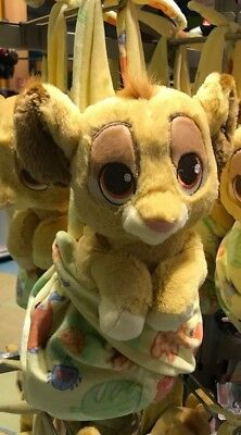 """Disney Parks Baby Babies SIMBA in a Blanket Pouch Plush New 10"""" Lion King"""