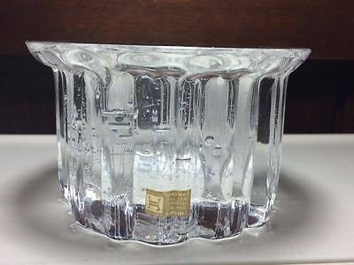 Signed mid century Hadeland crystal planter Made in Norway