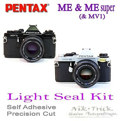 Pentax ME & ME Super & MV1 ~  ~ Replacement Light Seal Kit ~ Precision Laser Cut
