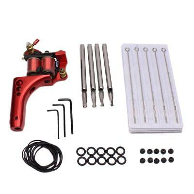 Complete Tattoo Red Machine Needle Nozzle Nipples Grommets Supply Kit Set