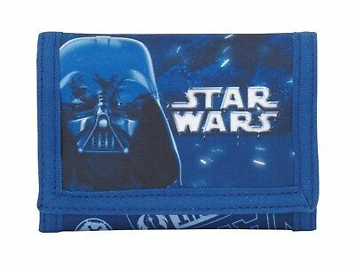 "Star Wars ""NEON"" Wallet Kids Coin Purse Blue Original OFFICIAL"