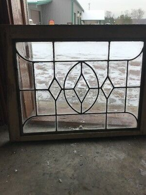 Sg 1868 Antique All Beveled Glass Transom Window 28.25 X 21.5 Hi