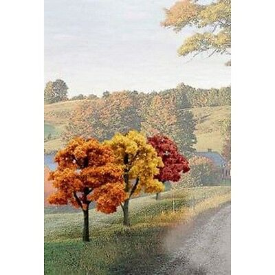 Woodland Scenics WSTR1577 Ready Made Tree Value Fall Colors (Set Of 14) NEW