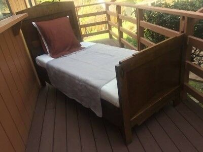 Vintage Solid Oak bed frame