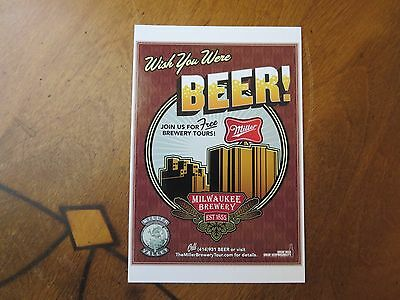 Miller High Life Postcard, Wish You Were Beer