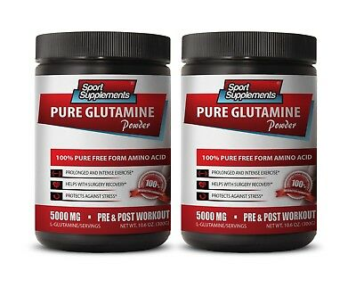 Amino Acid Complex - Pure Glutamine Powder 5000mg - Help With Weight Loss 2B