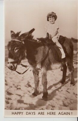 D438. Donkey and Child Rider at the Beach 1938