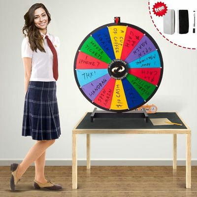 24''Tabletop Spinning Prize Wheel Spin to Win Wheel Game with Dry Erase Marker